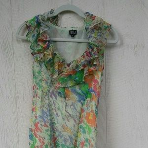 VERY J sleeveless dress with ruffles size M